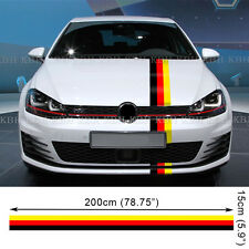 Germany Flag Stripe Decal Sticker for Polo Golf GTI Scirocco Jetta Passat Beetle