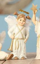 Bethany Lowe Christmas Pageant Nativity Children Figure Angel Holding Trumpet