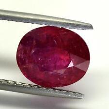 Beautiful 3.69Carat100% Natural Unheated Oval Shape GRS Certified Tanzania Ruby