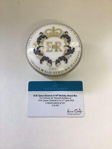 Royal Crown Derby 90th Birthday Round Box