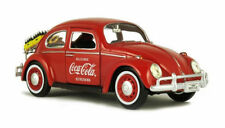 MOTOR CITY 1:24 COCA-COLA - 1966 VOLKSWAGEN BEETLE WITH RACK & BOTTLES 424067