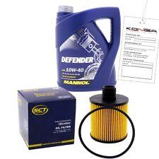 Inspektionskit MANNOL Defender 10W-40 für Peugeot 206 Sw 1.4 16v 1007 1.6 307