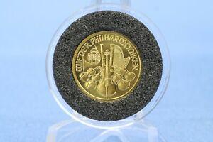Österreich 10 Euro 2002 Philharmoniker 1/10 oz Au / Gold 9999 * St *
