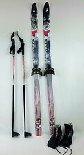 Kids Cross Country Package, 120 cm Asnes Snowman Skis, 3 PIN BOOTS & BDG Fitted