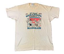 VTG 90's Bluegrass Sacramento Single Stitch T Shirt Size XL Made USA