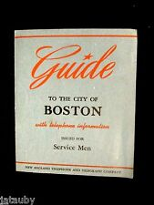 Vintage 1943 BOSTON TELEPHONE GUIDE SERVICE MAN 2 MAPS TELEGRAPH NEW ENGLAND
