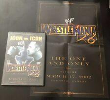 WWE WWF WrestleMania X8 18 - Icon 2002 Hulk Hogan XVIII -DVD w/ Mini Poster