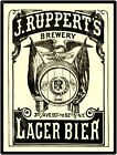 1895 Jacob Ruppert's Lager Bier New Metal Sign: 90th & 3rd Avenues, New York