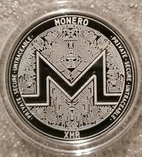 MONERO XMR 1 oz .999 silver commemorative coin crypto currency bitcoin secure