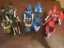 Power Rangers Tri. Battle Bike+Side Car Bandai Blue, Black & Red 1993 Men Includ
