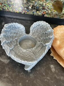 Rubber Latex Mould Angel Wing T-lite Candle Holder. Cherubs Fairies Casting