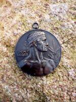 alte Bronze Sport Medaille Deutsche Meisterschaften Gewichtheben 1951 Dem Sieger