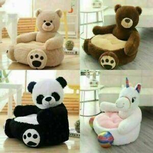 Kids Plush Armchair Children Sofa Panda Bear Furniture Animal Seat Chair Cover
