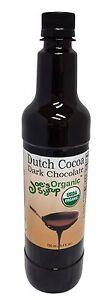 Joe's Syrup Organic Syrup, Organic Dutch Cocoa Dark Chocolate Sauce, 750 ml