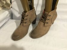 JOSEF SEIBEL GENUINE LEATHER TAUPE SIZE 7.5/41 WOMENS LADIES BOOTS SHOES (SG