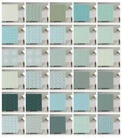 Turquoise Pattern Shower Curtain Fabric Decor Set with Hooks 4 Sizes