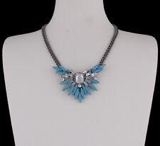 Halskette Statement Kette Gliederkette Strass Style Trend blau sweet deluxe Neu