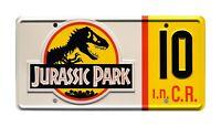 Jurassic Park | Jeep Wrangler Sahara | #10 | STAMPED Replica Prop License Plate