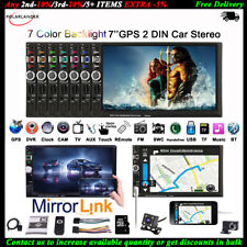 "7"" 2Din Radio Coche GPS Navi Pantalla táctil Bluetooth MP5 Estéreo FM+Cámara"