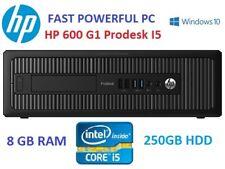 Cheap Bargain Powerful HP 600 G1 Prodesk I5 4th Gen COMPUTER 8GB RAM WINDOWS 10