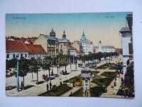 DEBRECZEN Piac utca Ungheria tram old postcard