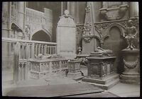 Glass Magic Lantern Slide WESTMINSTER ABBEY - TOMBS C1890 PHOTO LONDON ENGLAND