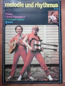 MELODIE UND RHYTHMUS 10 - 1983 Report Lionel Hampton Gerhard Schöne Jazz