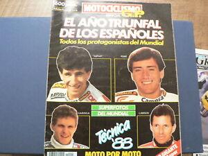 MOTOCICLISMO GP SPECIAL 1988 EL ANO TRIUNFAL DE LOS ESPANOLES LAWSON,ASPAR,PONS