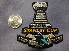 San Jose Sharks NHL 2016 Stanley Cup Jersey Patch Iron On 100% Embroidered New