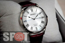 Seiko Sapphire 100m Leather Strap Men's Watch SGEG97P1