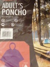 2 x Lightweight, camping, Adult Size, Hooded Rain Poncho, waterproof