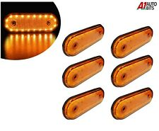 12v Led Oval Clearance Amber Side Marker Lights Position Truck Trailer Lorry X6