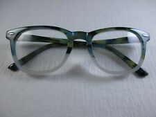 NOTEWORTHY Blue Spruce Horn Frame Spring Temple Reading Glasses +1.50