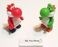 KNEX Green & Red Yoshi Action Mini Figures Super Mario Kart Wii K'NEX