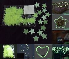 DIY Home Decoration Wall Ceiling Glow In The Dark Sticker Kids Room Decal 100Pcs