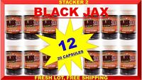 BLACK JAX by Stacker Two GOOD LUCK ENERGY (12 BOTTLES) 240 CAPSULES NEW & SHIELD