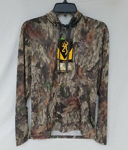 New Men's Browning Hipster - VS Hooded Tee A - TACS Camo