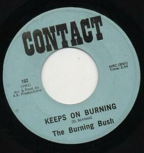 THE BURNING BUSH keeps on burning*evil eye NORTHERN SOUL*PSYCH CONTACT REISSUE