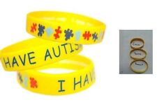 Silicone BRACELET Emergency Jewellery I Have AUTISM Wristbands Alert MEDICAL ID