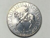 1977 Queen Elizabeth II Silver Jubilee Commemorative Coin 25 New Pence