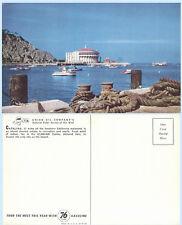 Catalina Island Casino California Union Oil Advertising c1939 Postcard