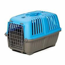 """Pet Carrier Hard-Sided Dog Carrier Cat Carrier Small Animal Carrier in Blue 19"""""""