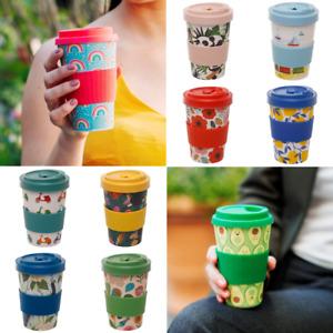 Eco Friendly Bamboo Reusable Travel Mug Tea Coffee Cup Flask Gift Box 400ml