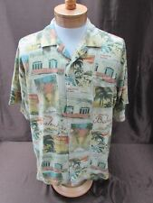 Tommy Bahama Men's Size XL 100% Silk Shirt LA Vegas High Roller Camp multi