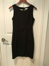 H&M Fitted Classic Day Work Night Elegant Black Sleeveless Dress Womens Size 8