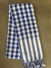 Krama BLEU traditionnel Echarpe Khmère en coton Tissé mixte scarf Cambodge 101