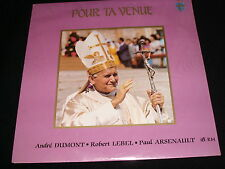 POPE JEAN-PAUL 11<>POUR TA VENUE<>SEALED LP Vinyl~Canada Pressing<>ESCALES ES384