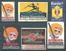 LOT Reklamemarken ROEDER Bremer - Börsenfeder u. Füllfederhalter Bremen (#26181)