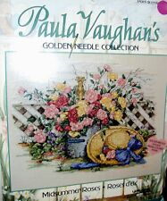 Golden Needle Collection Paula Vaughan Midsummer Roses Counted Cross Stitch Kit