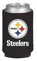 Pittsburgh Steelers Drink Coolie Can Holder Cooler Choose Single, 2 Pack, 6 Pk
